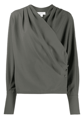 Beaufille buttoned wrap-style blouse - Green