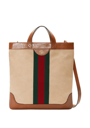Gucci Large vintage canvas tote - Brown