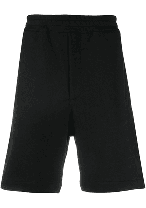 Alexander McQueen skull cotton track shorts - Black