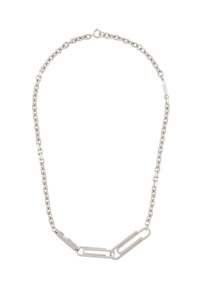Off-White double paperclip necklace - SILVER