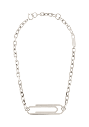 Off-White XL Paperclip necklace - SILVER