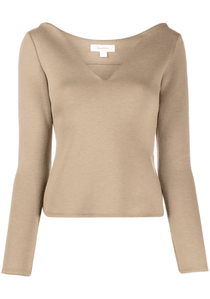 Beaufille V-neck top - Neutrals