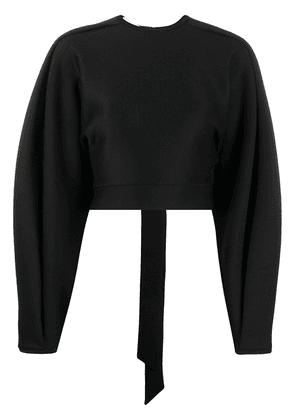 Beaufille wide-sleeve cut-out top - Black