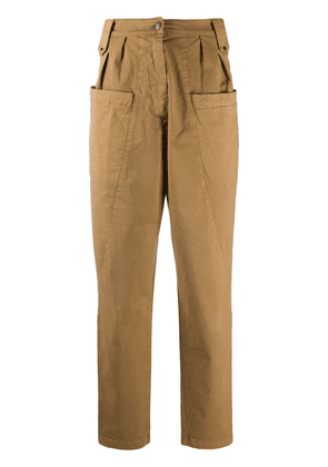 8pm high waisted carrot trousers - Brown