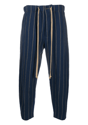 Uma Wang striped drawstring trousers - Blue
