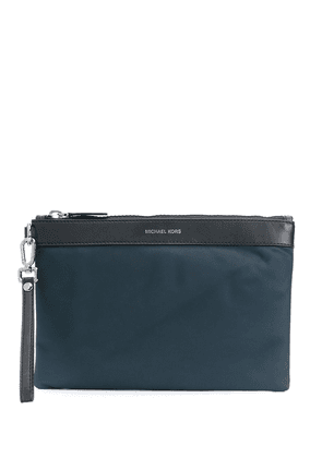 Michael Kors Collection leather panel clutch - Blue