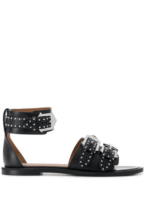 Givenchy studded buckled flat sandals - Black