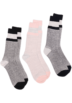 ANONYMOUS ISM three-piece sock set - Grey