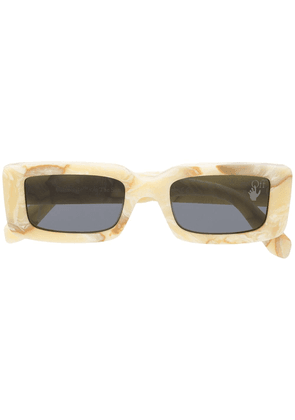 Off-White Arthur rectangle-frame sunglasses - Neutrals