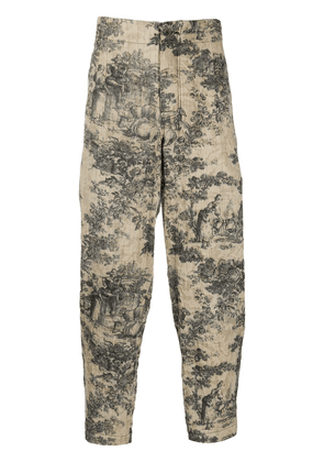 Uma Wang Toile de Jouy print trousers - Neutrals