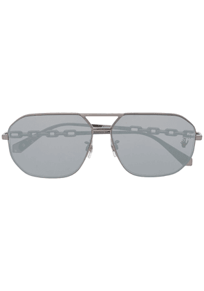 Off-White OMRI007F20MET0010700 aviator-frame sunglasses - Grey