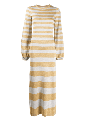 Bella Freud glittered stripe knitted dress - Silver