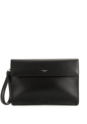 Dolce & Gabbana large logo clutch bag - Black