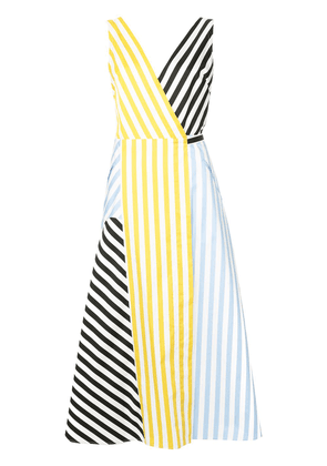 Anna October striped patchwork dress - Multicolour