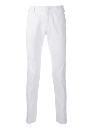 Entre Amis slim-fit chino trousers - White