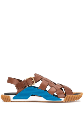 Dolce & Gabbana Ns1 leather sandals - Brown