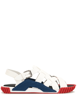 Dolce & Gabbana Ns1 leather sandals - White