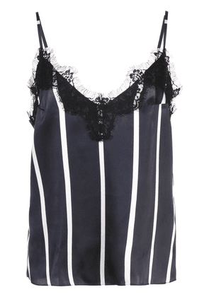 Fleur Du Mal striped lace trim cami - Blue