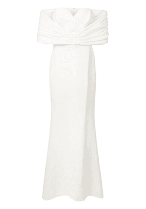 Christian Siriano off the shoulders dress - White