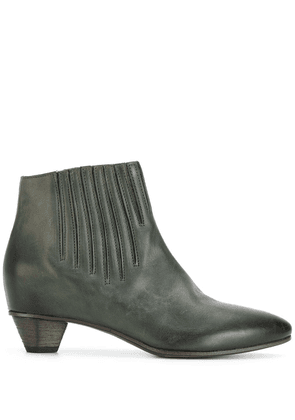 Del Carlo stitch detail ankle boots - Green