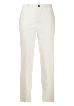 Berwich Chicca cropped trousers - White