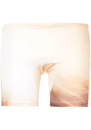 Cottweiler drawstring waist shorts - Yellow