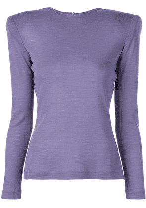Christian Siriano structured shoulders T-shirt - PURPLE