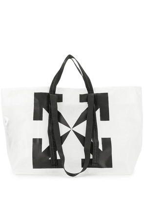 Off-White Arrows grid-print tote bag