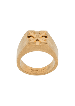Off-White Arrows square signet ring - Gold