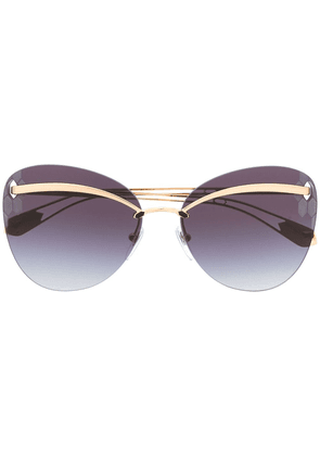 Bvlgari cat-eye tinted sunglasses - Gold