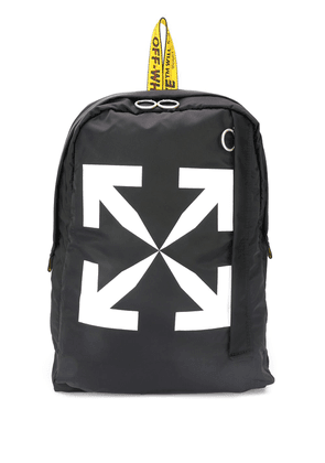 Off-White Arrows logo backpack - Black
