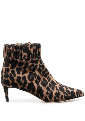 Chloe Gosselin Jenna leopard pointed boots - Brown