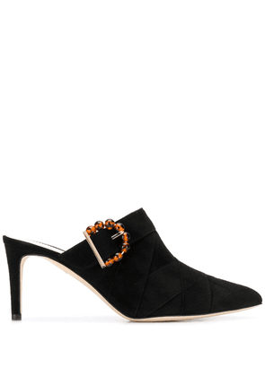 Chloe Gosselin Marija 75mm buckle-detailed mules - Black