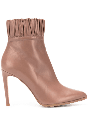 Chloe Gosselin Maud pleated trimming boots - Brown