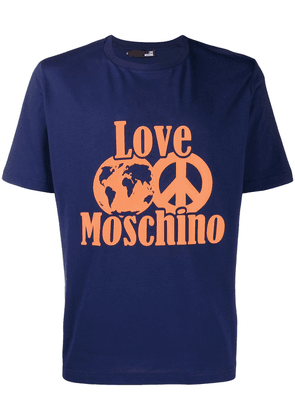 Love Moschino World Peace T-shirt - Blue