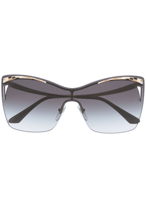 Bvlgari square tinted sunglasses - Blue