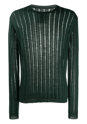 Uma Wang long sleeve fine-knit cashmere jumper - Green