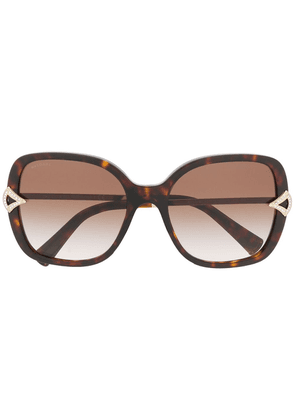 Bvlgari square tinted sunglasses - Brown