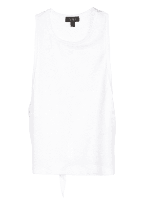 ALALA tie back mesh tank top - White