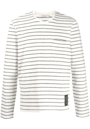 Tiger of Sweden striped knitted T-shirt - Neutrals