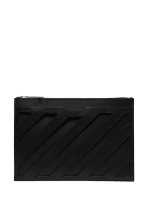 Off-White panelled clutch - Black
