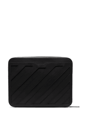 Off-White leather clutch bag - Black