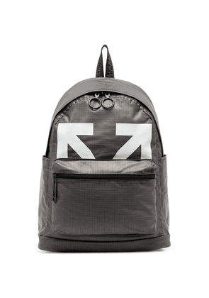 Off-White logo-print PVC backpack - Black