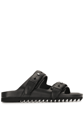 Dunhill punch hole sandals - Black