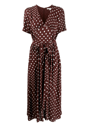 Alexa Chung V-neck polka dot print dress - Brown
