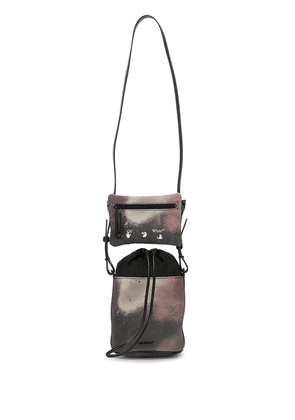 Off-White camouflage-print double pouch bag - Brown