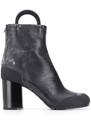 Random Identities cracked leather ankle boots - Grey
