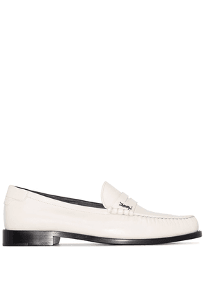 Saint Laurent Twenty 15 leather loafers - Neutrals