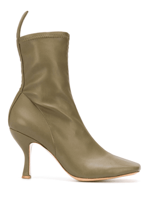 Gia Couture Soraya square-toe ankle boots - Green