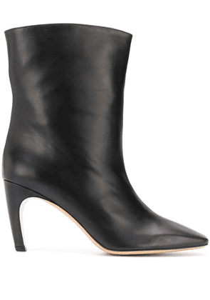 Gia Couture Atena square-toe ankle boots - Black